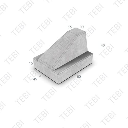 Schampblok 60x45x40cm grijs