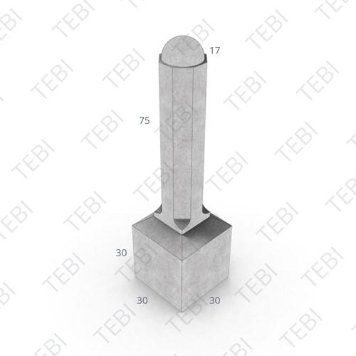 Sierpaal 8-hoekig 30x30/105cm antraciet
