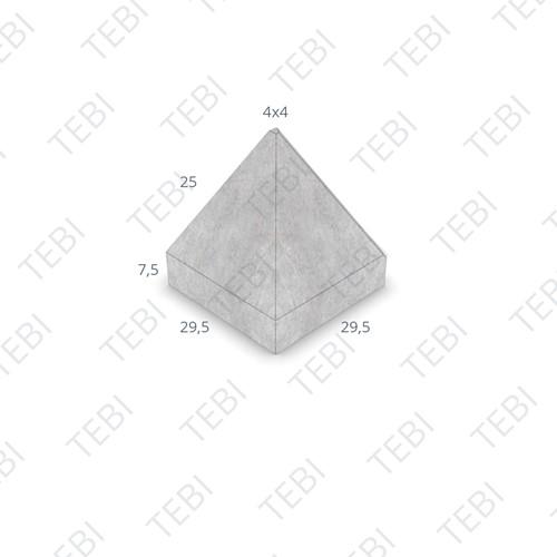 Piramideblok 30x30x32cm Grijs