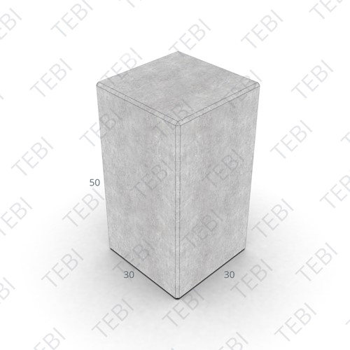 Siercarré Vierkant 30x30x50cm Grijs