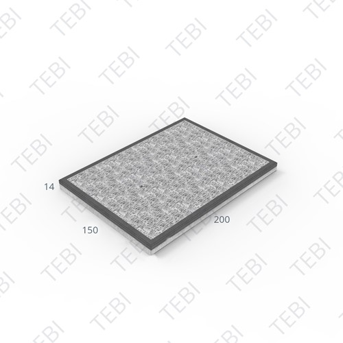 Stelconplaat Komo MHR 200x150x14cm