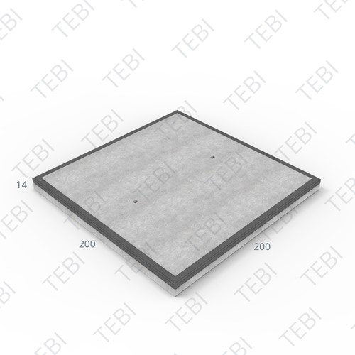 Cordonplaat Komo MHR 200x200x14cm constructief net