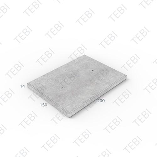 Industrieplaat C50/60 ZHR EN 200x150x14cm Glad