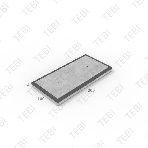 Industrieplaat MHR 200x100x14cm EN B55