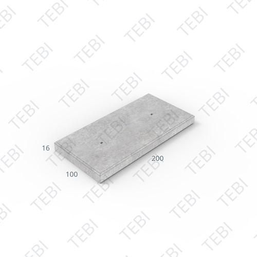 Industrieplaat C50/60 ZHR EN 200x100x16cm Glad
