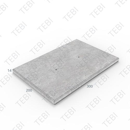 Transconplaat C50/60 ZHR DN 300x200x14cm Glad
