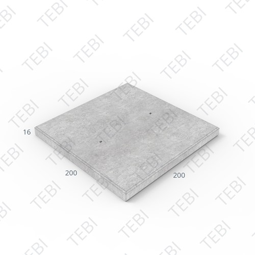 Cordonplaat Komo ZHR 200x200x16cm constructief net