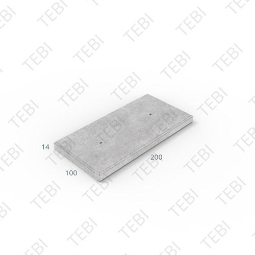 Industrieplaat C50/60 ZHR EN 200x100x14cm Glad