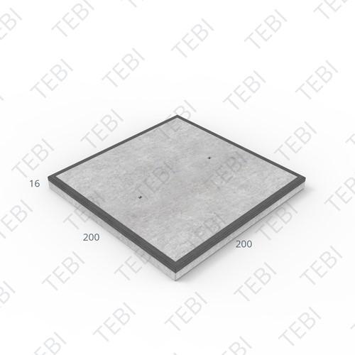 Cordonplaat Komo MHR 200x200x16cm constructief net