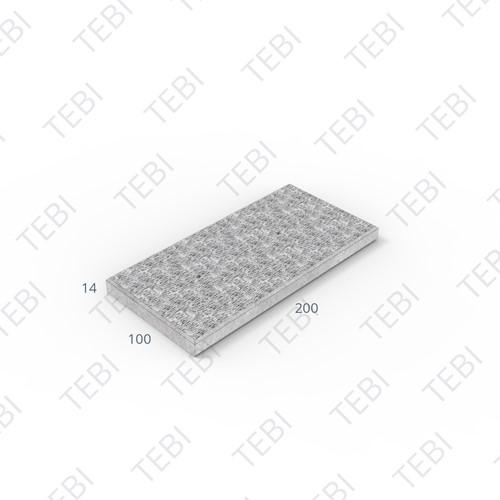 Transconplaat C50/60 ZHR EN 200x100x14cm Ruw