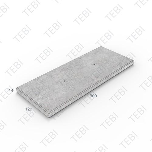 Transconplaat ZHR B60 EN 120x300x14cm Glad