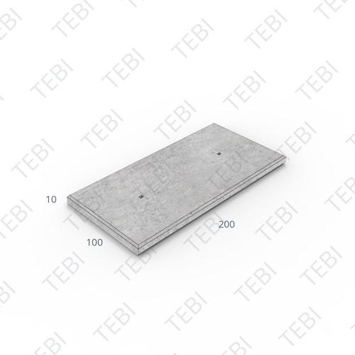 Transconplaat ZHR B60 EN 200x100x10cm Glad