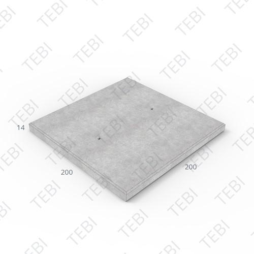 Transconplaat C50/60 ZHR EN 200x200x14cm Glad