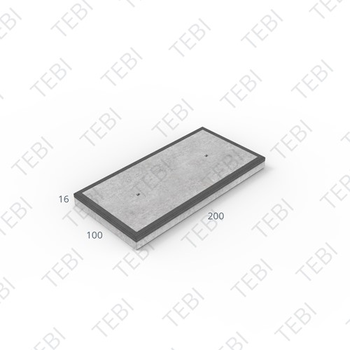 Cordonplaat Komo MHR 200x100x16cm constructief net