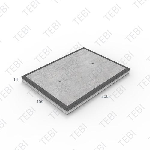 Transconplaat C50/60 MHR EN 200x150x14cm Glad