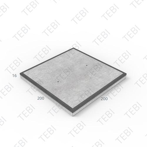 Transconplaat MHR B60 DN 200x200x16cm Glad Antraciet