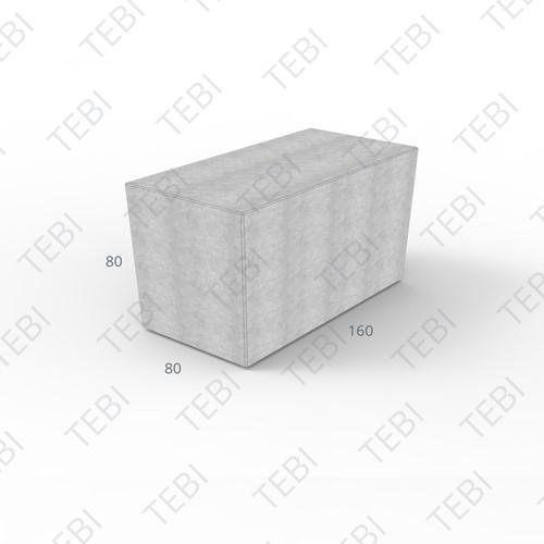 Megablok 160x80x80cm grijs zonder nok