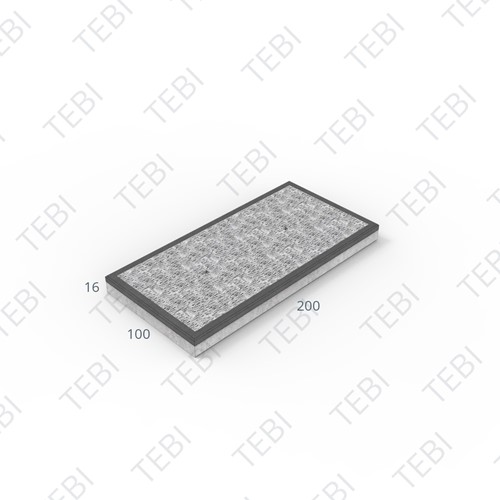 Stelconplaat Komo MHR 200x100x16cm S-plaat
