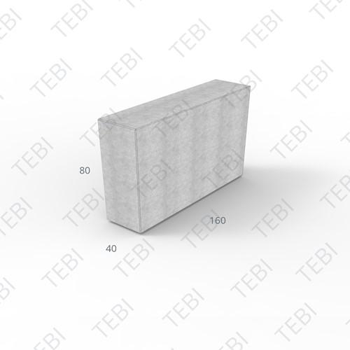 Megablok 160x40x80 grijs zonder nok