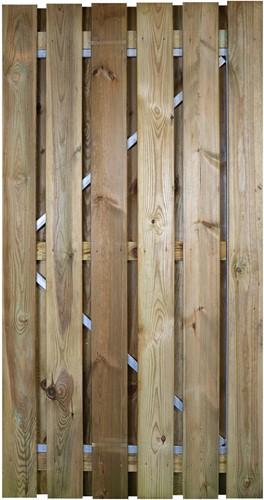 Gardenlux grenen deur met verstelbaar stalen frame 100x190cm