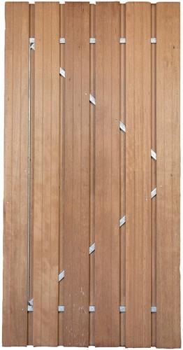 Gardenlux hardhouten deur met verstelbaar stalen frame 100x195cm