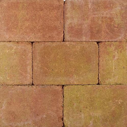 Tambourisés Brique 20x20x5cm geel/terra