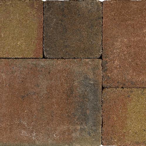 Tambourisés Brique 20x20x5cm brons