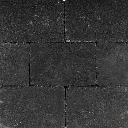 Tambourisés Brique 30x40x5cm zwart