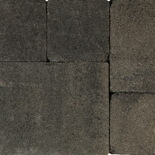 Tambourisés Brique 30x40x5cm grijs/zwart