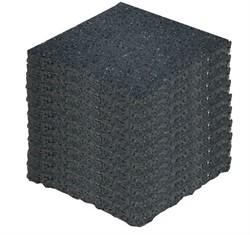 Tegeldrager per pak van 10 stuks zwart 10x10x1cm