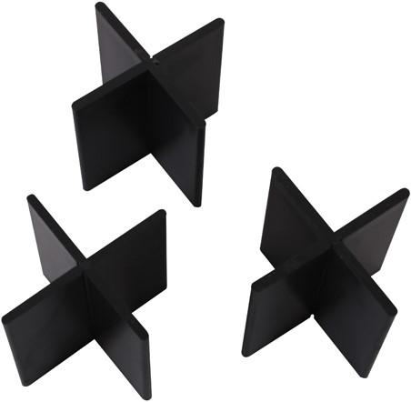 Voegkruis herbruikbaar zwart 3mm 50x55mm (2x50st.)
