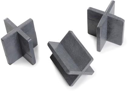 Voegkruis herbruikbaar zwart 5mm 50x55mm (100st.)