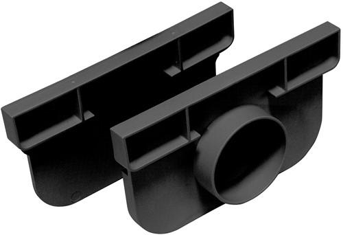 Top Drain set met 2 eindkappen, waarvan 1 met zijuitlaat mogelijkheid ø 50mm