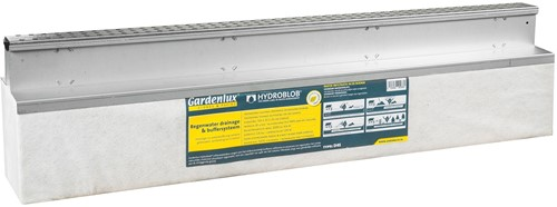 Hydroblob Slimline set verzinkt incl. D45 unit SL55 VS 120x20x30cm