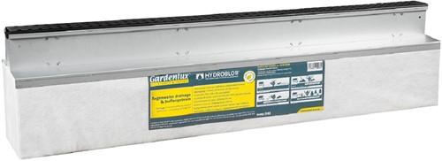 Hydroblob Slimline set grafiet incl. D45 unit SL55 GZ 120x20x30cm