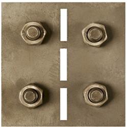Cortenstaal koppel-/hoekplaatjes cortenstaal