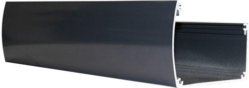 Luxe aluminium bakgoot 400cm breed inclusief doorvoer, RAL7016 (W43555)