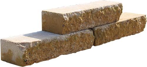 Stapelblok Brickwal geel 30x10x6.5