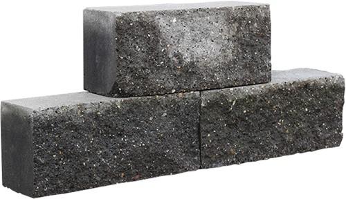 Brickwall 30x10x13cm Zwart