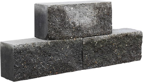 Stapelblok Brickwal zwart 30x10x13