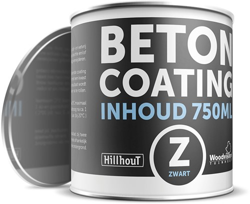 Coating betonverf 750 ml, zwart.