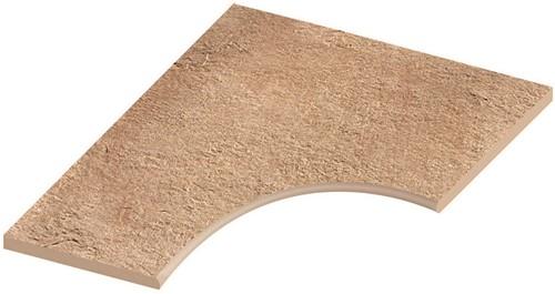 Ceramica Lastra Afdekplaat rond bochtstuk 60x60x2cm
