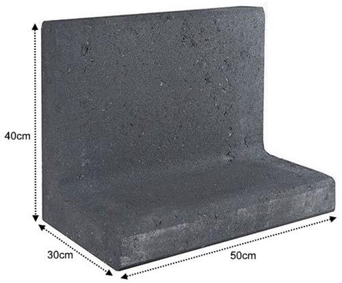 L-Element 50x30x40cm zwart