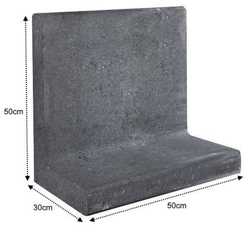 L-Element 50x30x50cm zwart