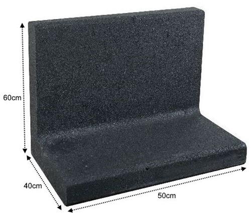 L-Element 50x40x60cm zwart