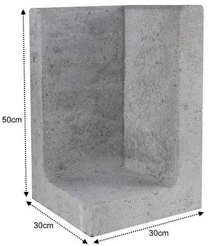 L-Element Hoek 30x30x50cm grijs