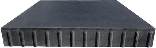 Transconplaat ZHR 120x120x16cm ongewapend zwart
