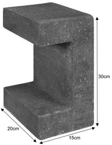 U-Element 15x20x30cm zwart