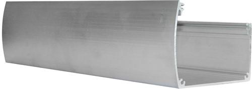 Luxe aluminium bakgoot 500cm breed inclusief doorvoer, onbehandeld (W43510)
